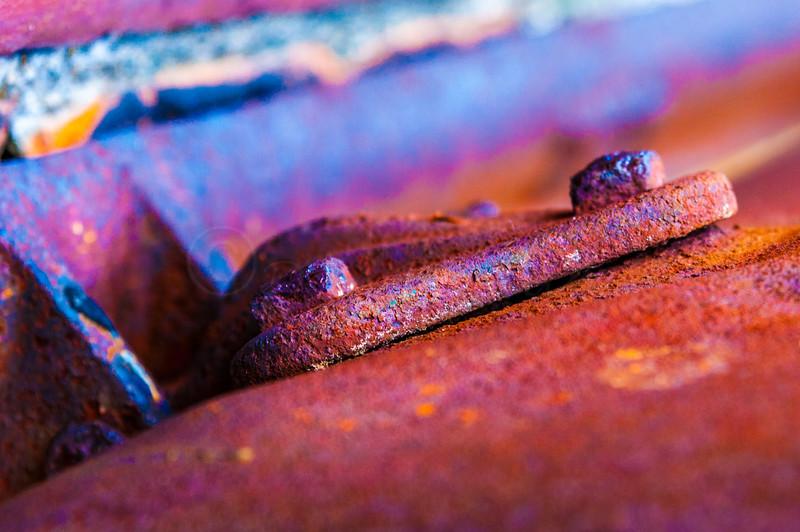 Rusty hing.