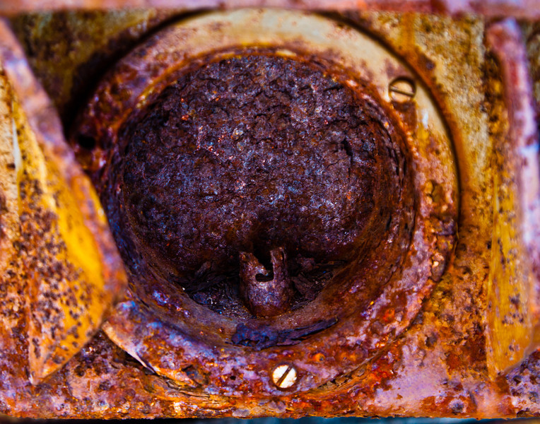 Rusted taillight socket