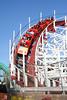 A roller coaster at the Boardwalk in Santa Cruz.