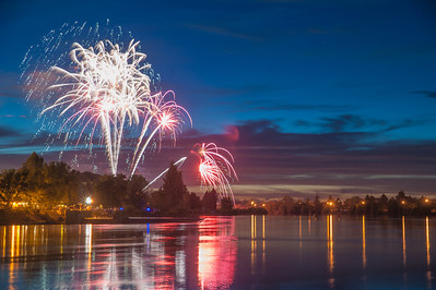 Celebrating Fourth of July in Idaho Falls, Id. It was suppose to be the largest firework show west of the Mississippi, It lasted an Hour and 10 minutes which made it an hour and 9 minutes longer than San Diego's that same year. July 4th, 2012