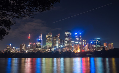 A long exposure night scape of downtown Sydney, Australia. June 2011