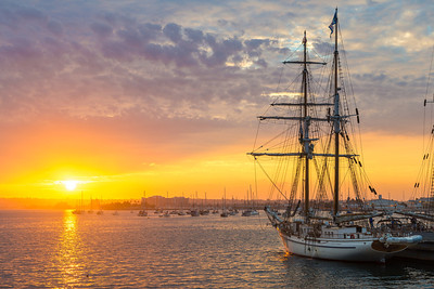 An amazing sunset after a stormy afternoon in the San Diego Harbor, Labor Day weekend 2012.