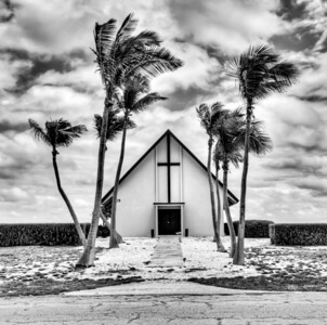 The church that was built during World War II on Wake Island in the pacific. Wake is a tiny island about half way between Hawaii and Guam and is used as a refueling stop for military aircraft transiting through. This shot was taken within a week of me renewing my interest photography in January of 2011.