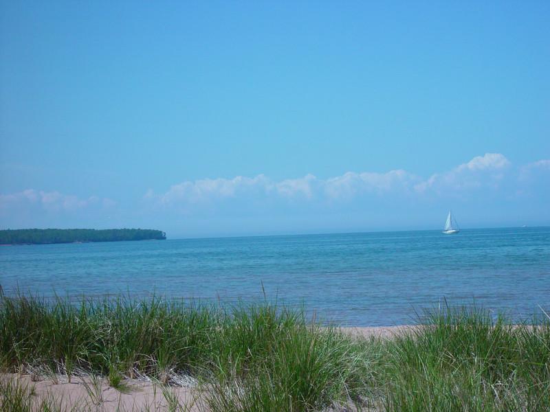 Lake Superior from the Cornucopia beachfront.