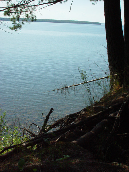 Overlooking Lake Superior from the old property in Cornucopia, WI.