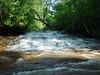Lower falls on the Siskiwit River in Cornucopia, WI.