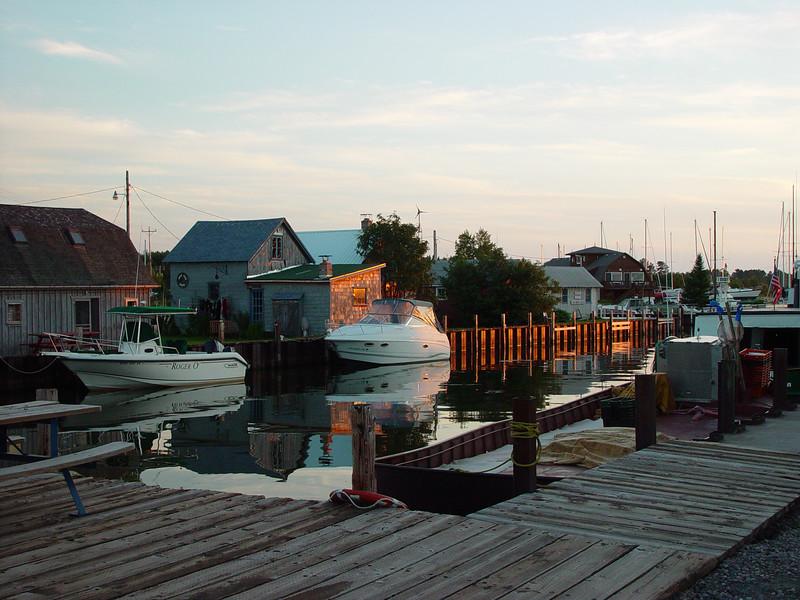 Part of the Cornucopia harbor.