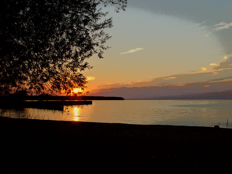 Sunset on Corny beach.