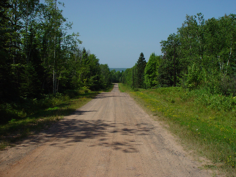 Start of the driveway to the old property in Cornucopia, WI.