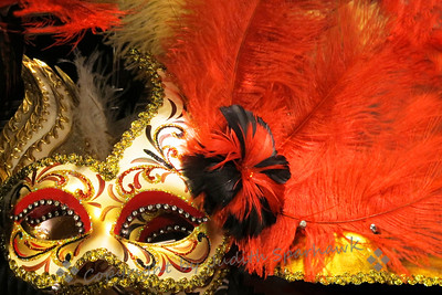 The Masque Ball ~ This dramatic feathered and glittery mask was photographed at Pier 1 Imports. I loved the colors and the decadence of it.