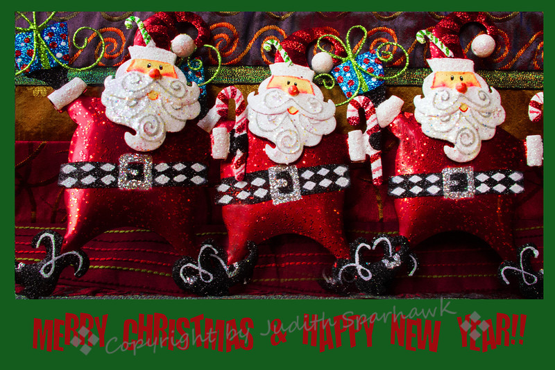 Three Little Santas ~ One of the images I created for Christmas cards to send out and sell this year.