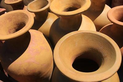 Terra-cotta Fluted Pots (6)