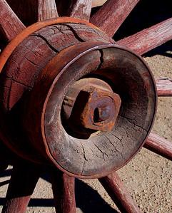 Old wooden wagaon wheel (12)