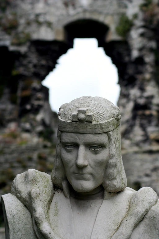 Richard III at Middleham Castle. Yorkshire