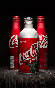 Metal Coke Bottles