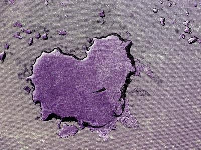 Water Heart purple