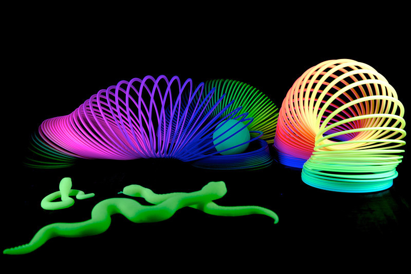 Still Life 9/12 toys under black light