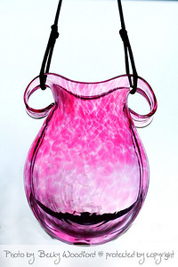 Blown-glass vase