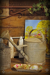 Potting Shed ~ A different view of the antique mall still life.