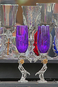The Purple Flutes ~ These were part of the displays for sale at the Renaissance Faire.