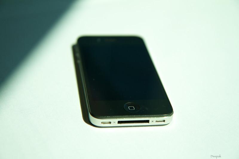An iPhone in the sun