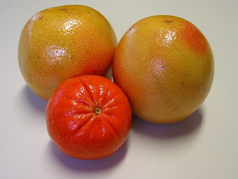 Red Grapefruit with a Sunburst Tangerine