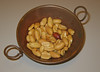 Peanuts in a small brass bowl (Carrboro Century Center, March 27, 2008)