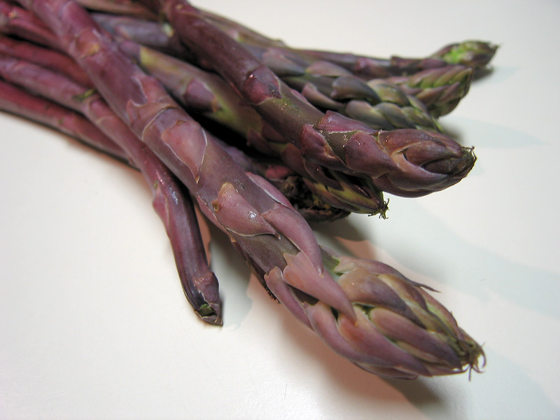 Purple asparagus from Ora Loma Ranch