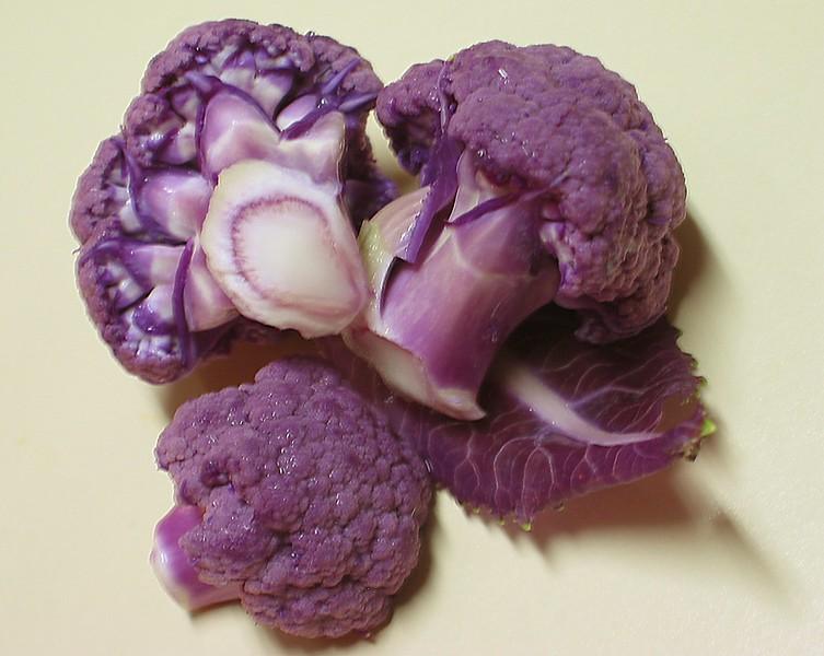 Purple Cauliflower pieces