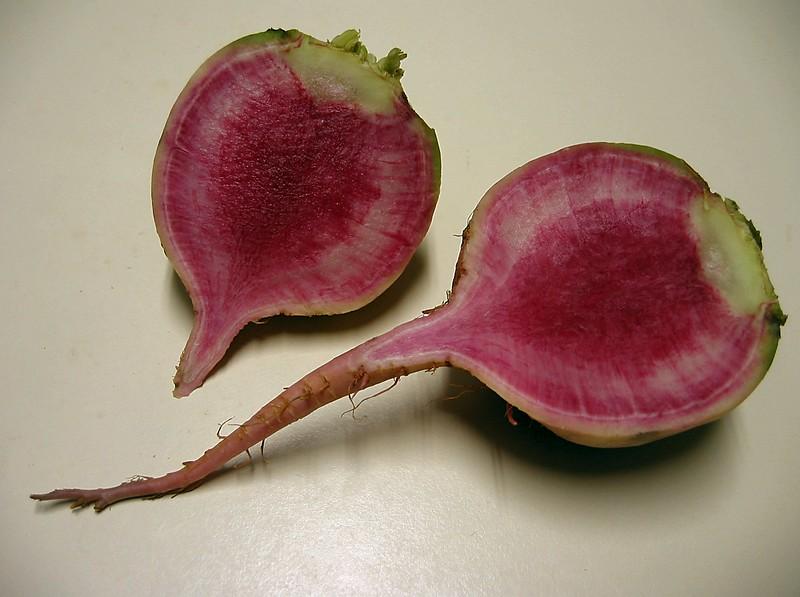 00aFavorite Watermelon Radish - cut in half