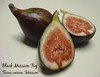 Black Mission Figs - 2 halves, 1 intact [cropped bit closer, text]