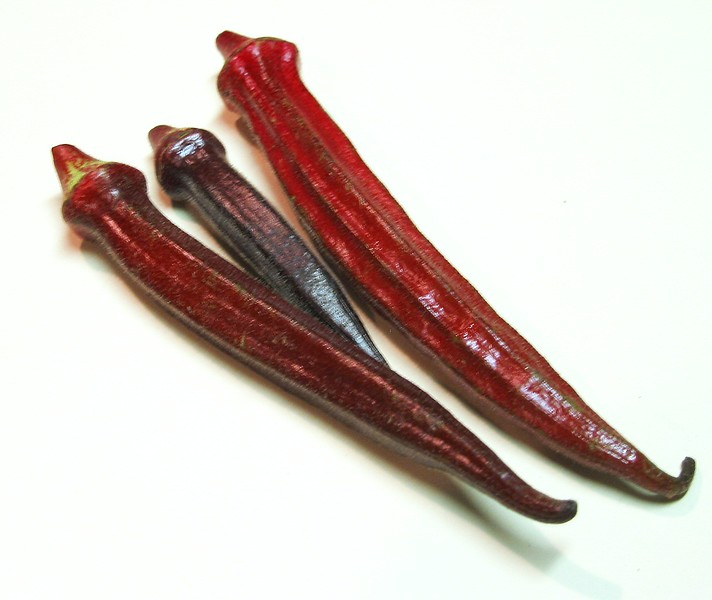 Burgundy okra 1 - 3 spears