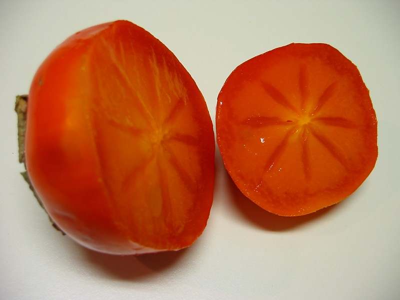 Hachiya Persimmon cut in half