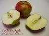 Sundowner apple - 2 halves, 1 whole [text]
