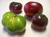 Heirloom tomato - Green Zebra and 3 Cherokee Purple