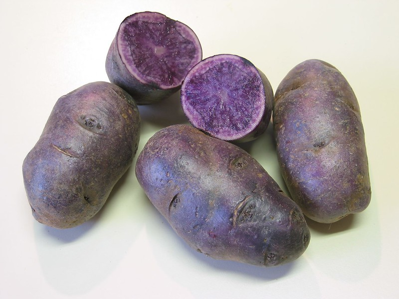 Purple potatoes with one cut in half 2