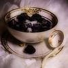 Blackberries in antique sugarbowl