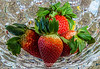 Strawberries in a Crystal Bowl