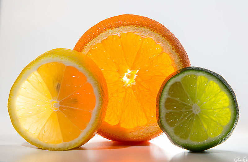 High Key Backlit Citrus Texture