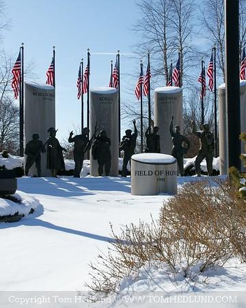 Field of Honor in its winter wear.