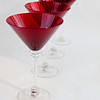 Red Martini Glasses