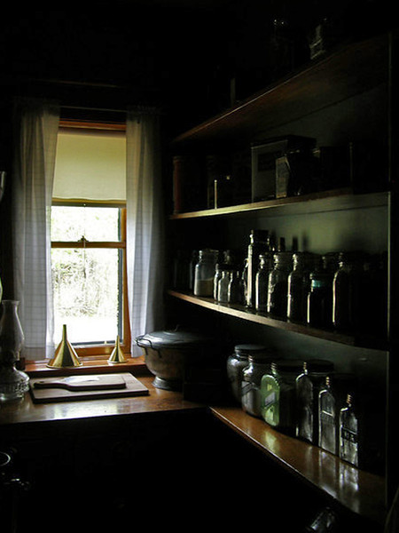 Apothocary at the Splitrock Lighthouse residence on Lake Superior.