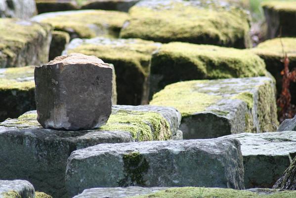 Roman stones at Chesters Bridge
