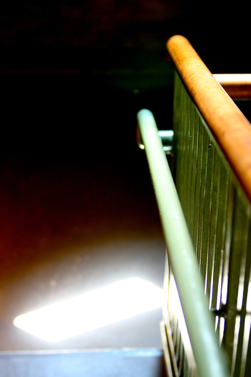 Sunlight in stairwell