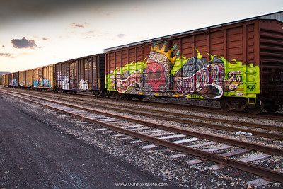 Trains on Neville Island just outside of Pittsburgh, Graffiti, Kaze Sorrow