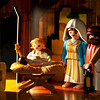 I got a 580 EX II Speedlite today.  I used the Playmobile nativity as my subject for off-camera flash experimentation.