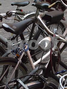 """Bikes at Padua, Italy""   copyrt 2007 Marg Burgess"