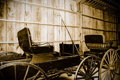 Vintage Buggy Wagon and Wheels