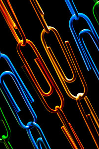 Colorful Paperclips Chains
