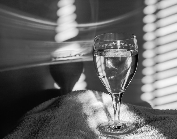 Wine is Fine.  Shadows and Light B&W